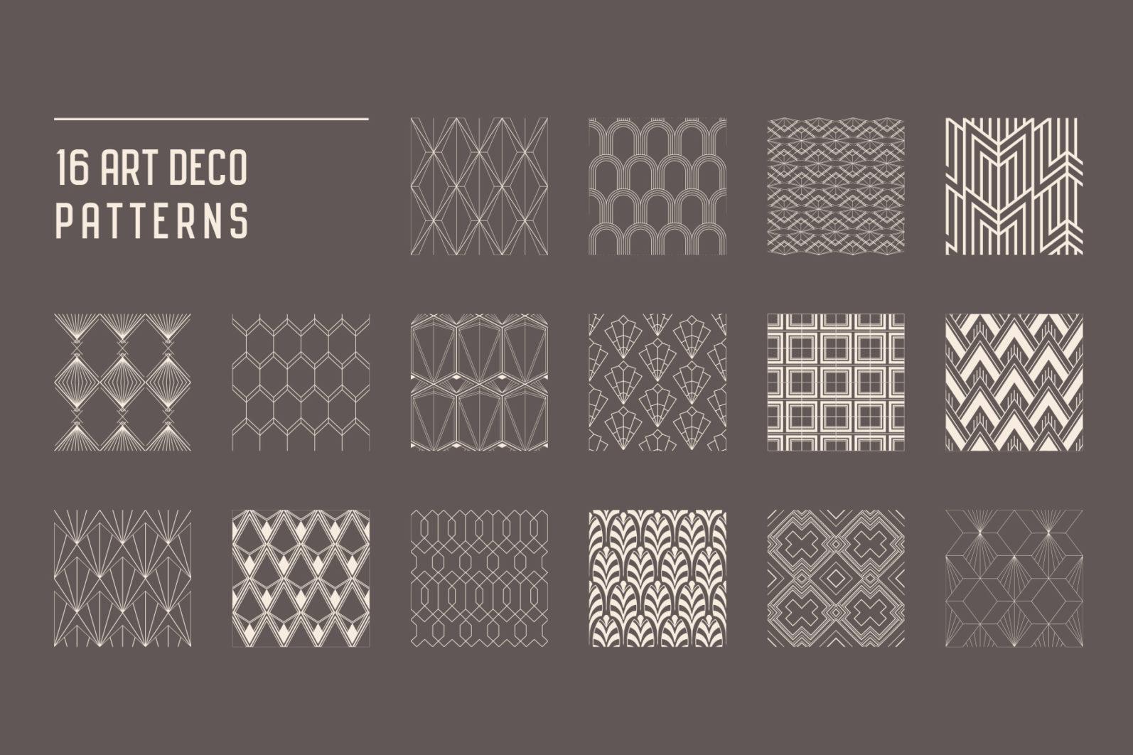 Geometric Art Deco Seamless Patterns - art deco 4 -