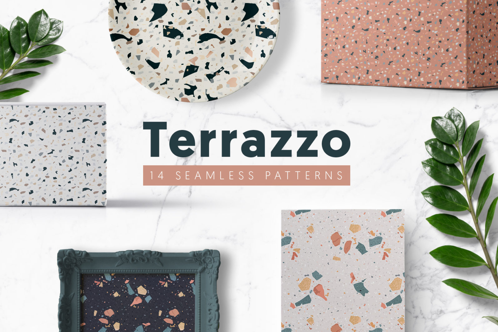 Terrazzo Seamless Patterns - preview 16 -