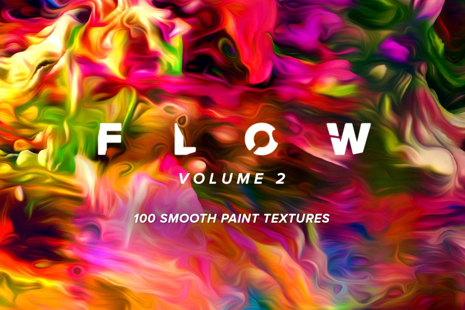 Flow, Vol. 2: 100 Smooth Paint Textures - Flow Vol 2 Preview 01 -