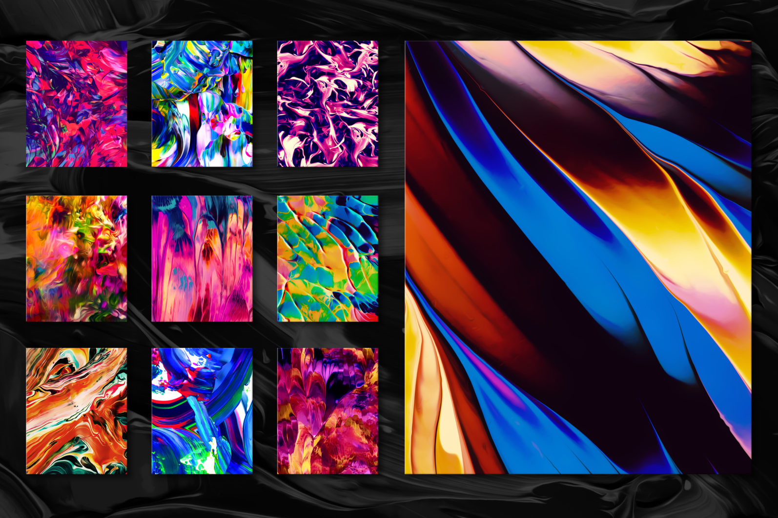 Flow, Vol. 2: 100 Smooth Paint Textures - Flow Vol 2 Preview 05 -