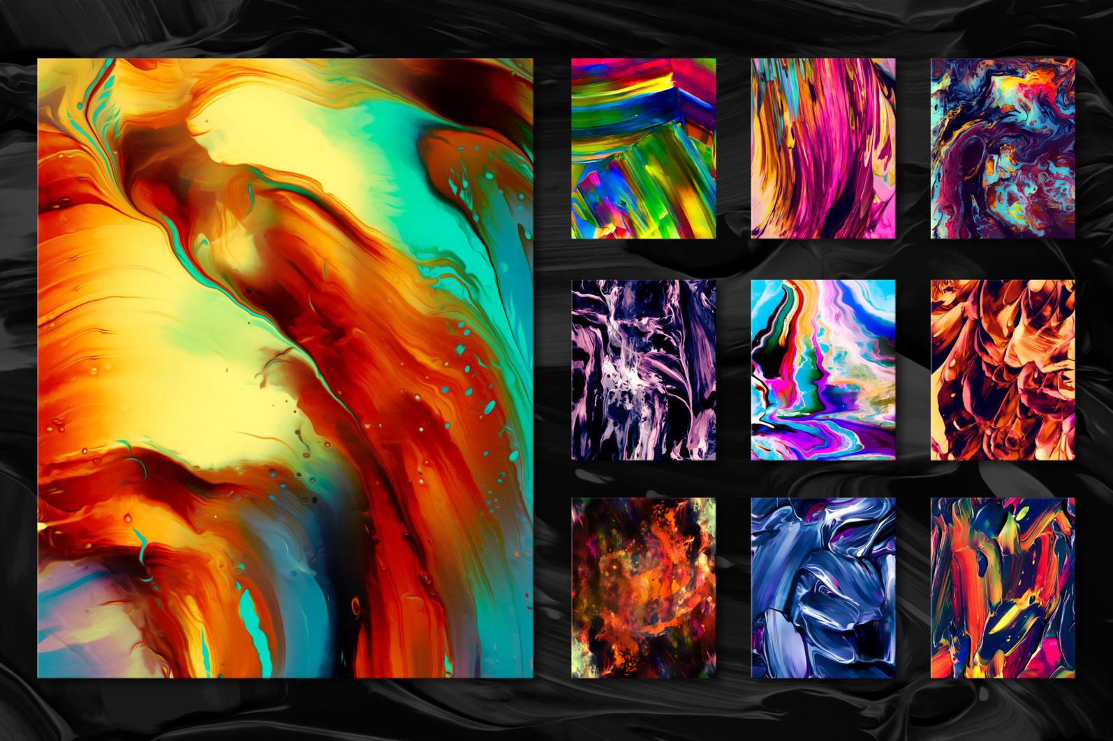 Flow, Vol. 2: 100 Smooth Paint Textures - Flow Vol 2 Preview 06 -