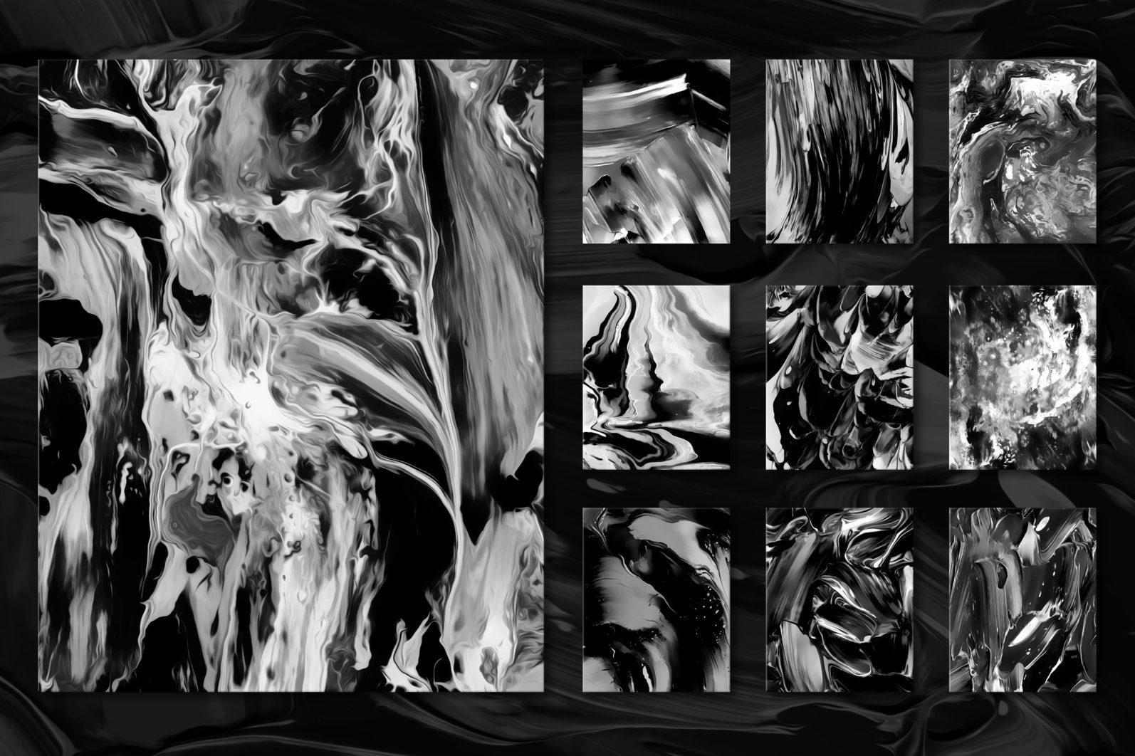 Flow, Vol. 2: 100 Smooth Paint Textures - Flow Vol 2 Preview 08 -