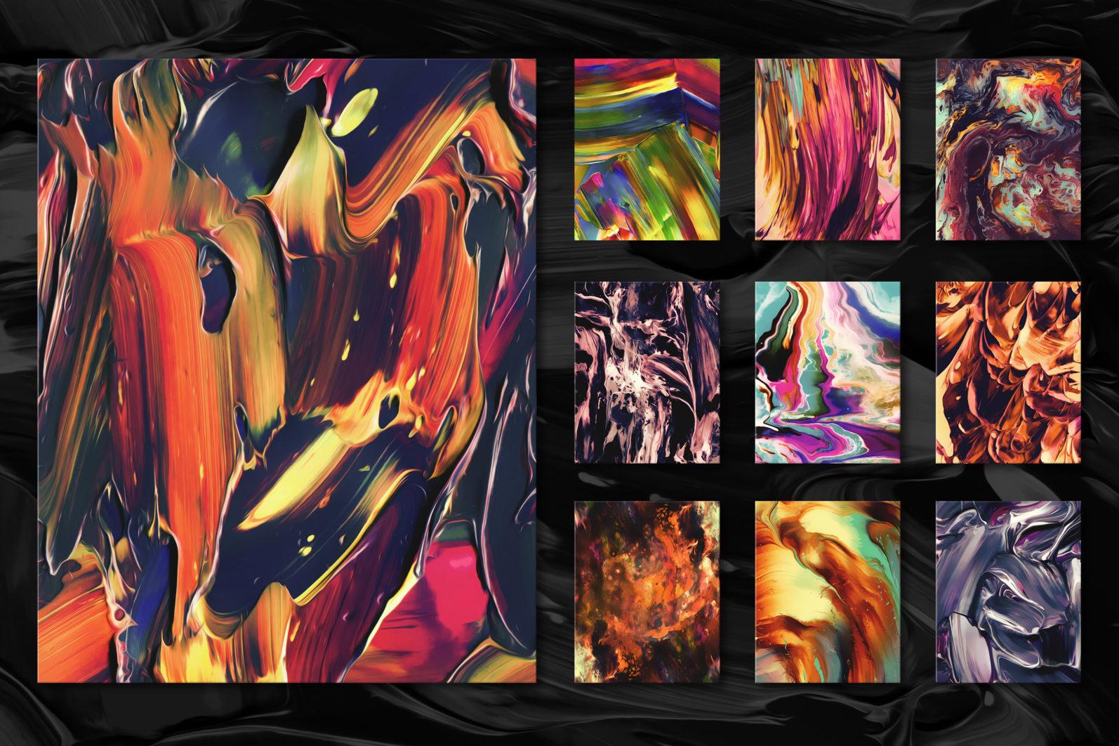 Flow, Vol. 2: 100 Smooth Paint Textures - Flow Vol 2 Preview 14 -