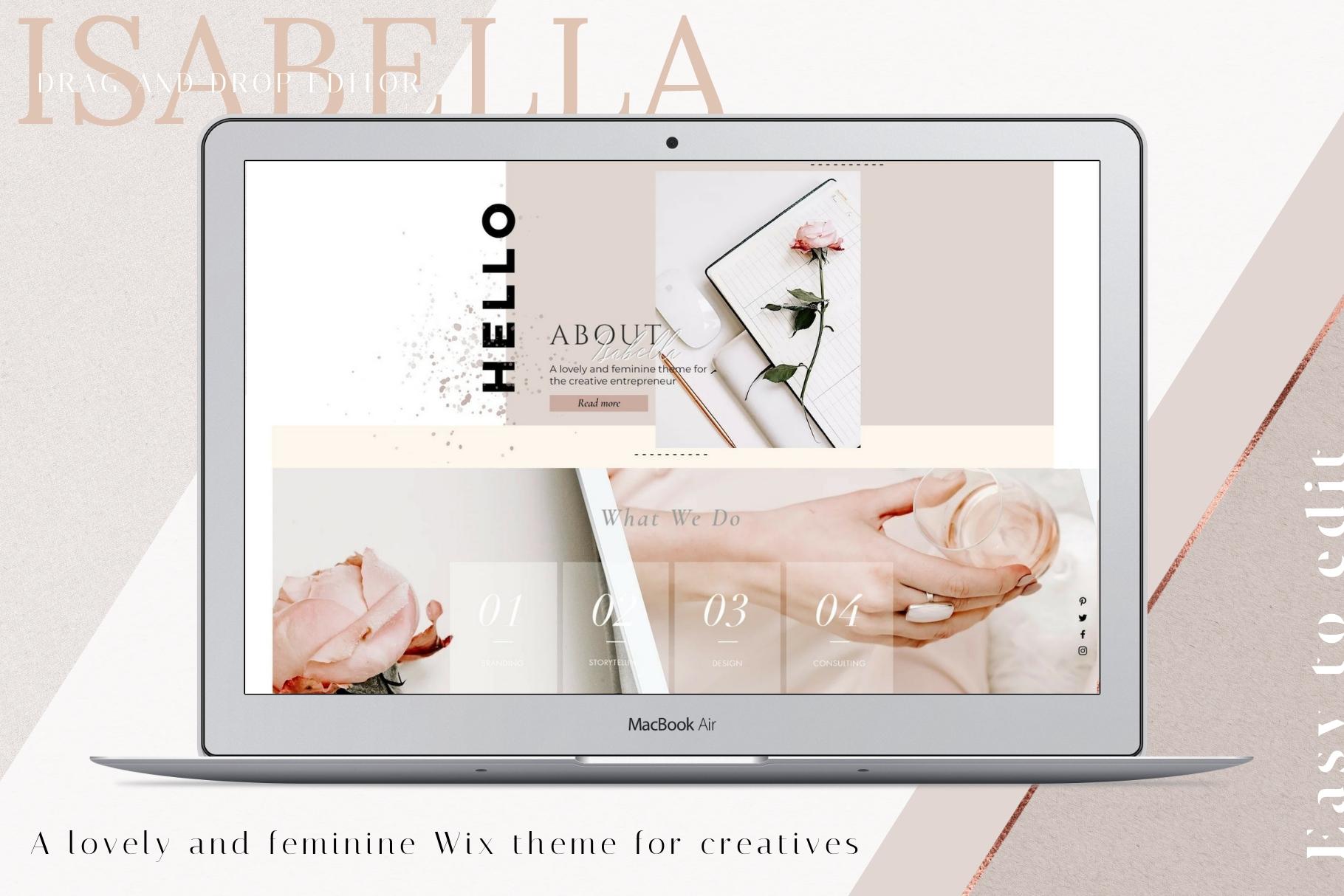 Wix Website Template Isabella
