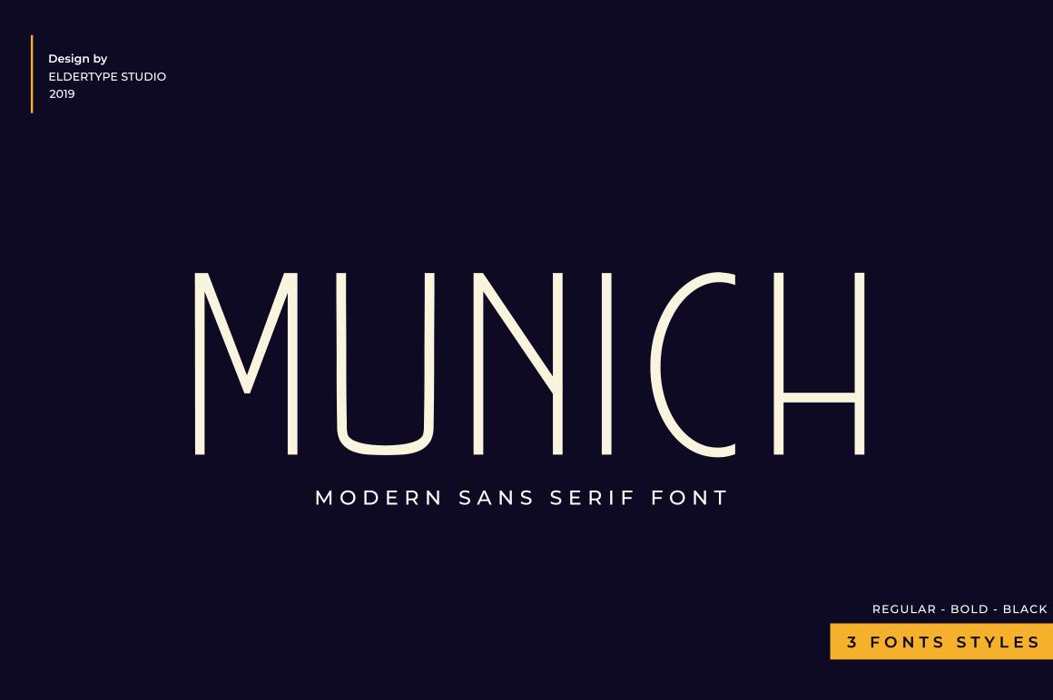 Munich Sans - 3 fonts
