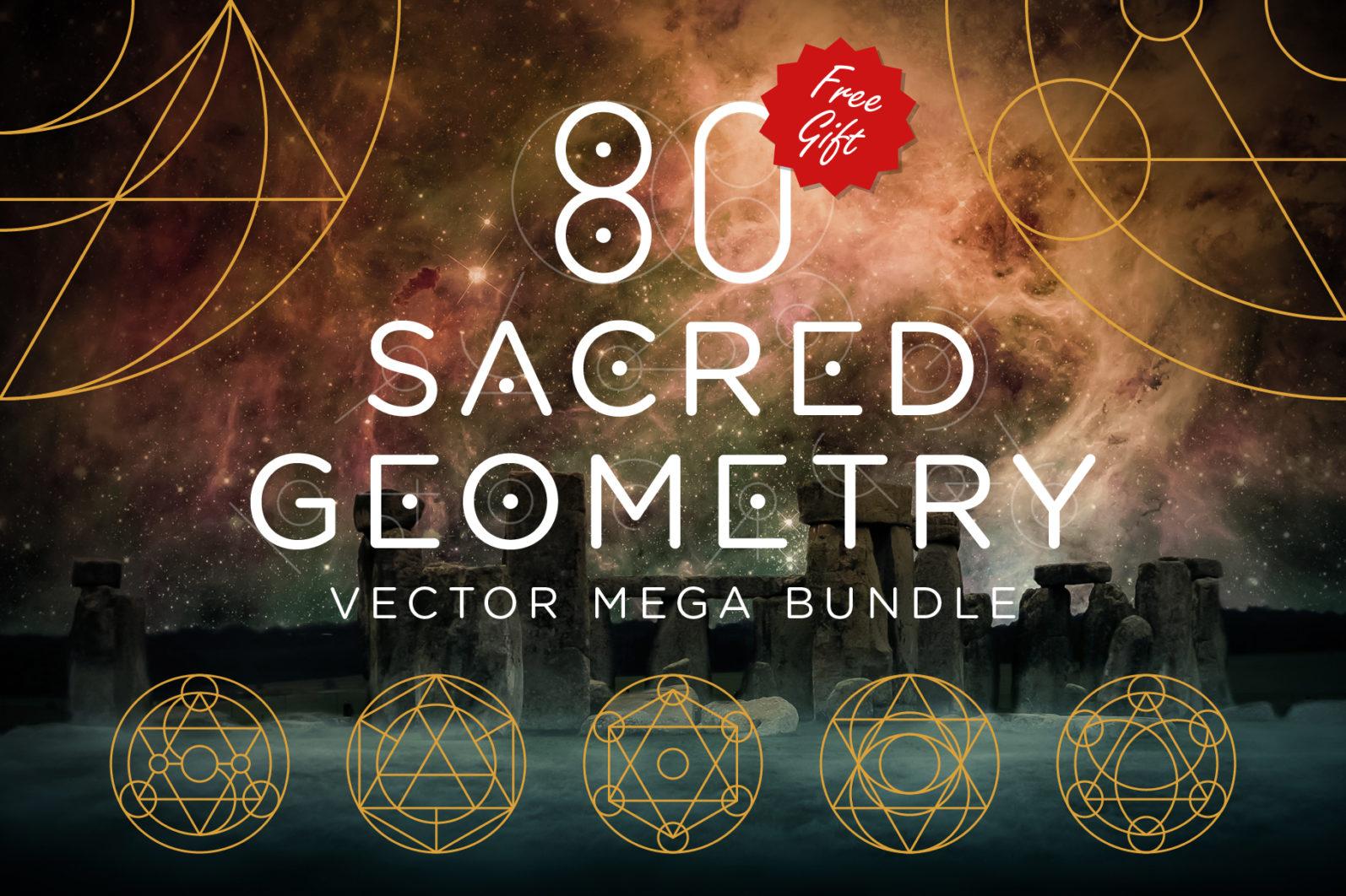 Sacred Geometry Vector Megabundle - Sacred Geometry Preview 11 -