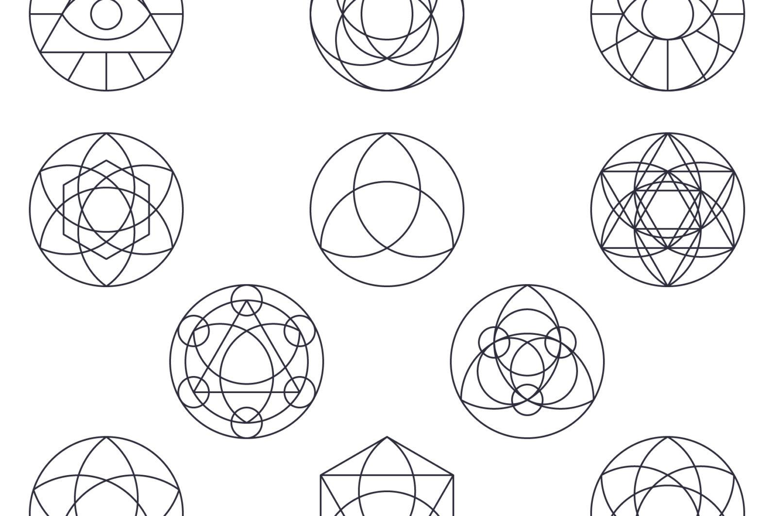 Sacred Geometry Vector Megabundle - Sacred Geometry Preview B1 scaled -