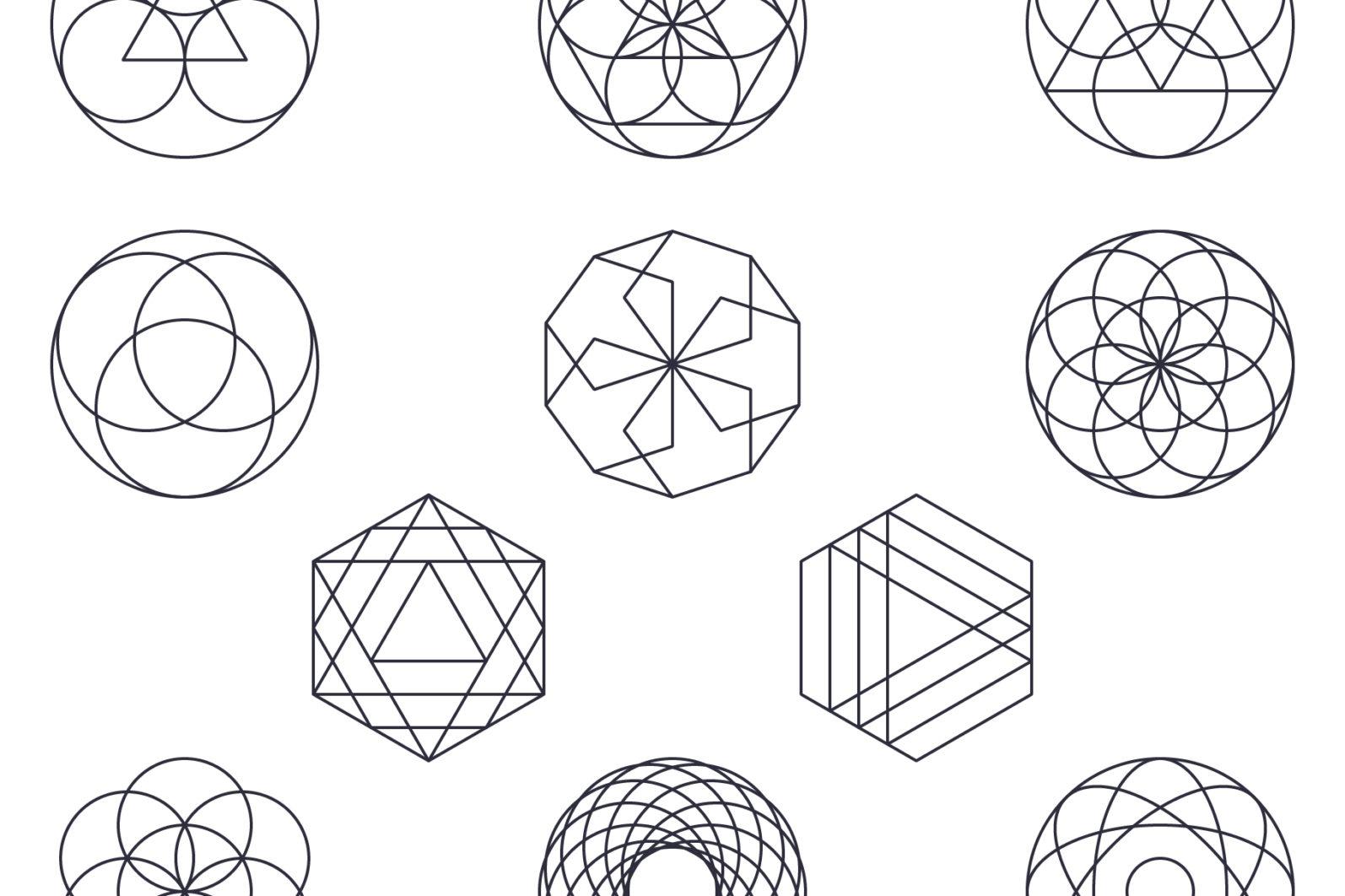Sacred Geometry Vector Megabundle - Sacred Geometry Preview B2 scaled -