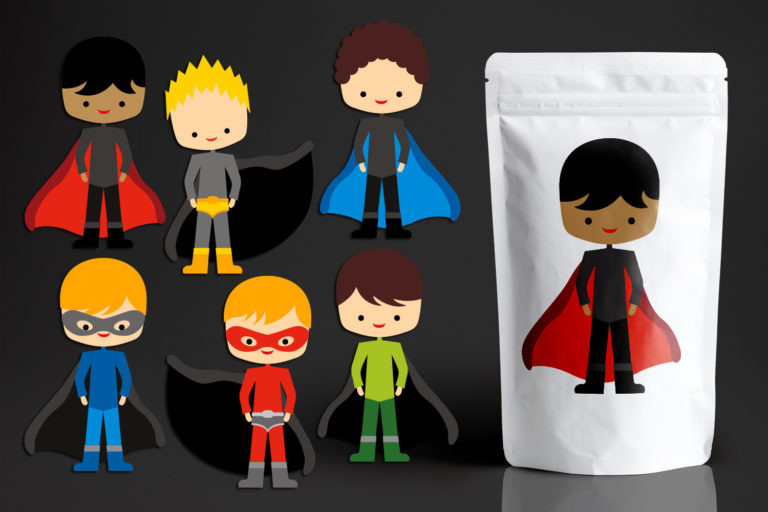 Kids Superhero Illustration Bundle - BlessedGrafik07629SuperheroBoysTeam -