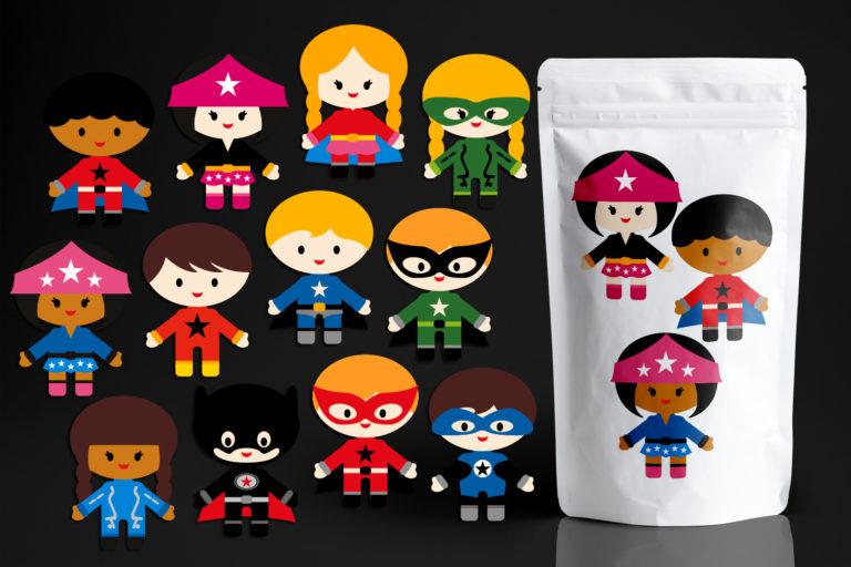 Kids Superhero Illustration Bundle - BlessedGrafikPlastic07627SuperheroSquad -