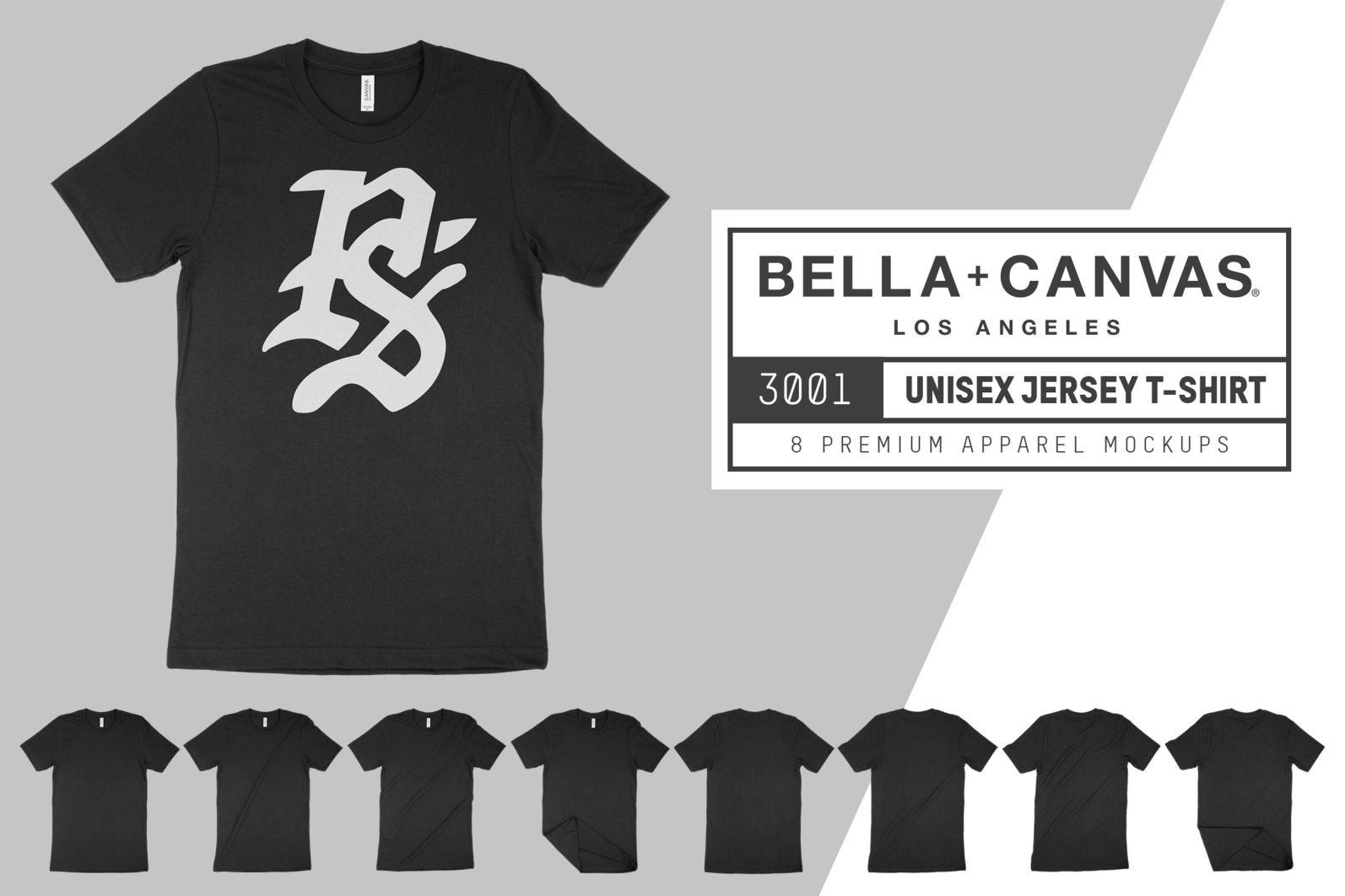 Bella Canvas 3001 T-Shirt Mockups - ps bc 3001 01 -