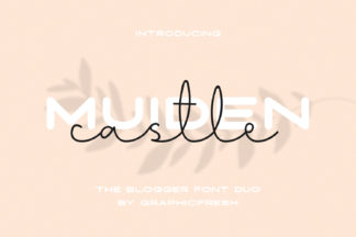 Font Deals - Powerful Script & Calligraphy Fonts for just $1 - Muiden 01 -