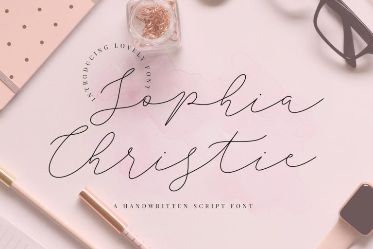 free font - Sophia Christie Script