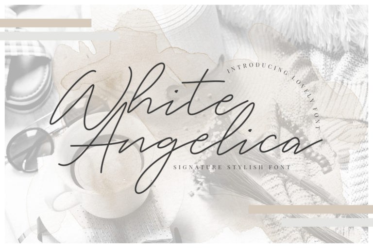 free font - White Angelica Signature