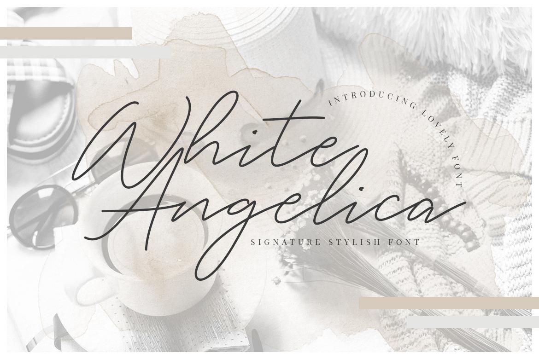 free font - White Angelica Signature