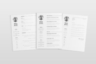All Freebies - Free Clean And Minimal Resume Template 1 -