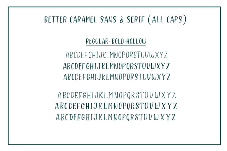 Better Caramel // Font Trio - 281 -