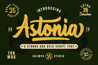 Font Deals - Powerful Script & Calligraphy Fonts for just $1 - Astonia prev1 -