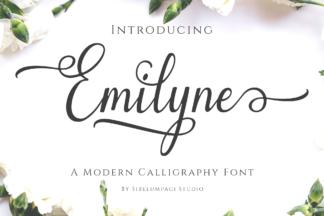 Font Deals - Powerful Script & Calligraphy Fonts for just $1 - Emilyne previ1 -