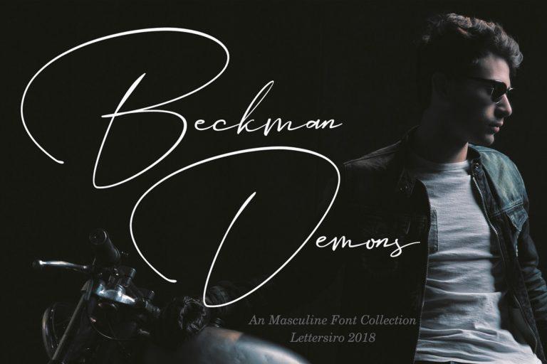 Beckman Demons // Signature Font - Beckman Demons 01 -