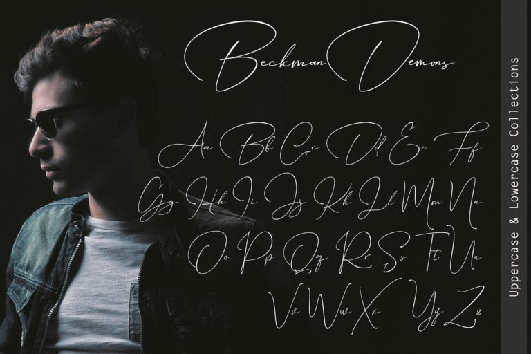Beckman Demons // Signature Font - Beckman Demons 09 -