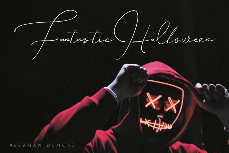 Beckman Demons // Signature Font - Beckman Demons 07 -