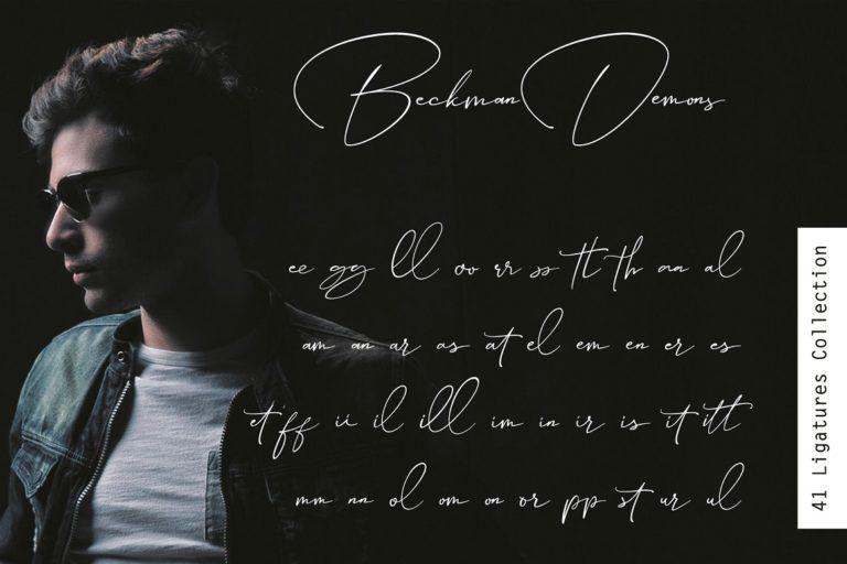 Beckman Demons // Signature Font - Beckman Demons 08 -