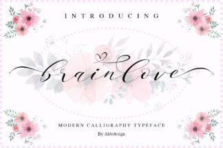 Font Deals - Powerful Script & Calligraphy Fonts for just $1 - Brainlove Preview 001 -