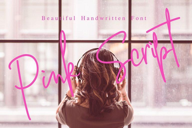 Pink Script // Beautiful Handwritten Font - Pink Script 01 -