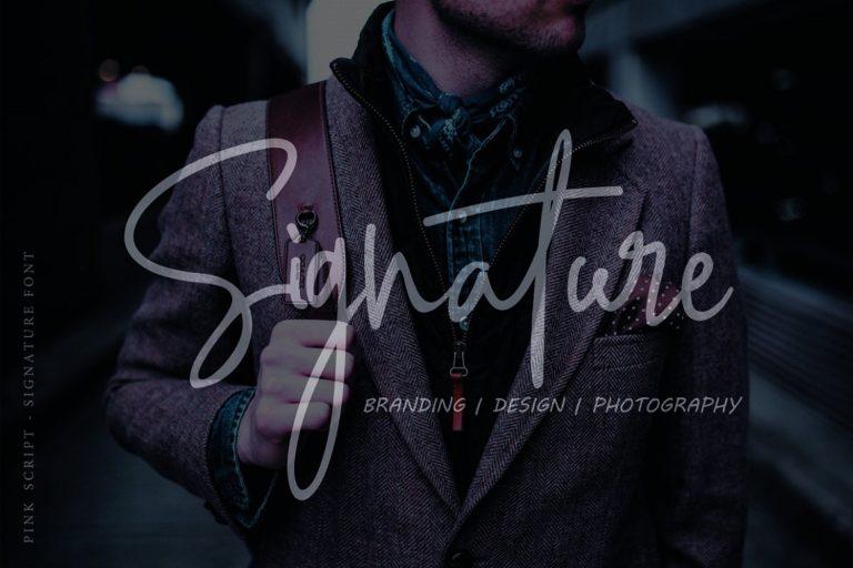 Pink Script // Beautiful Handwritten Font - Pink Script 05 -
