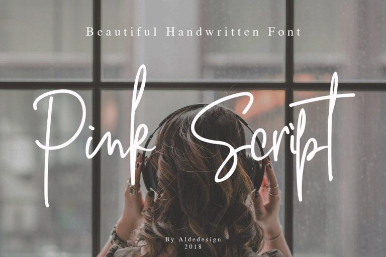 Pink Script // Beautiful Handwritten Font - Pink Script 16 -