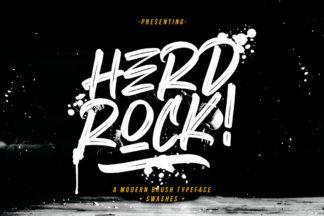 free font - Herdrock