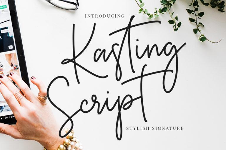 free font - Kasting Script Signature