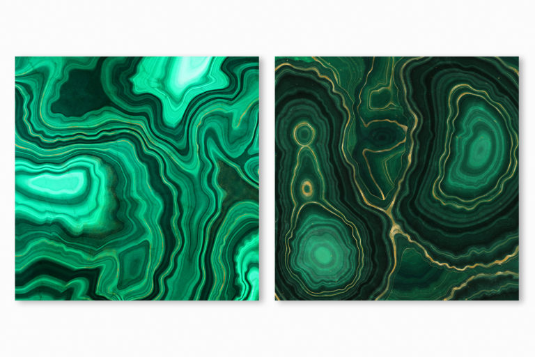 10 Malachite & Gold Mineral Textures - Green Geode Backgrounds - 02 green gemstone digital papers -