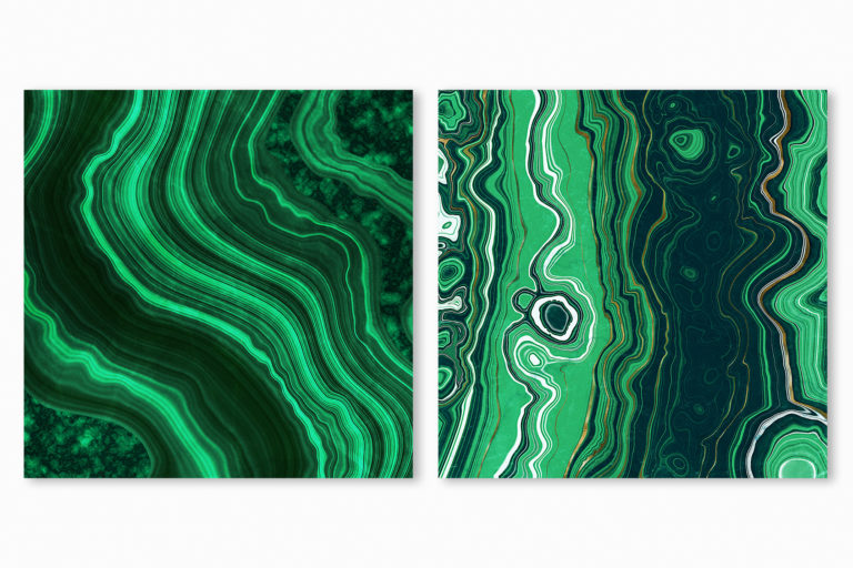 10 Malachite & Gold Mineral Textures - Green Geode Backgrounds - 03 geode digital papers -