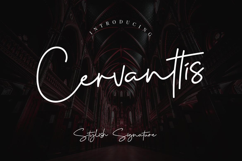 free font - Cervanttis Signature Script Font