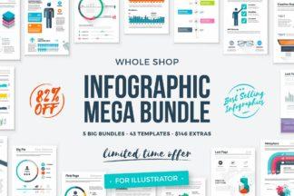"<span style=""display: none"">Designer Bundles</span> - infographic templates whole shop mega bundle 1 -"