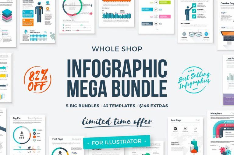 Infographic Mega Bundle - infographic templates whole shop mega bundle 1 -
