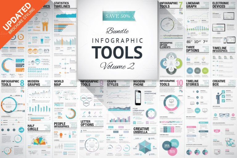 Infographic Mega Bundle - preview8 brochure styling o -