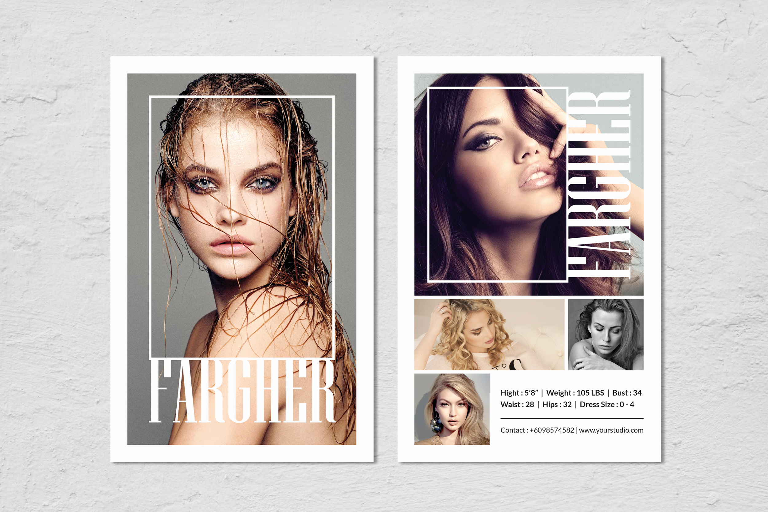 Fashion Modeling Comp Card Template