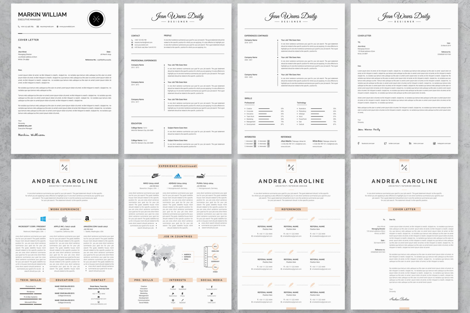 40+ Word Resume/Cv Template Big Bundle - 281 -