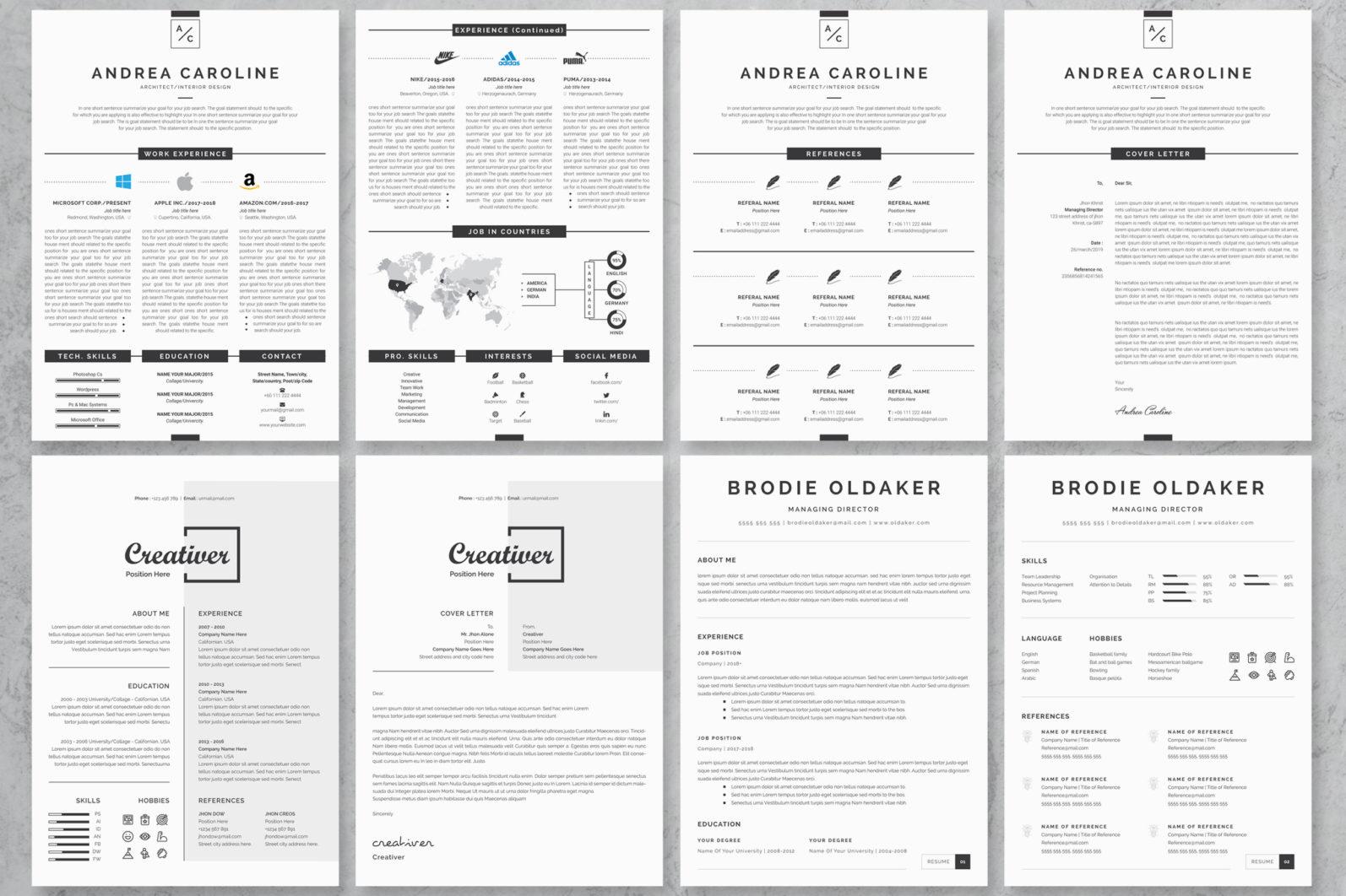 40+ Word Resume/Cv Template Big Bundle - 379 -