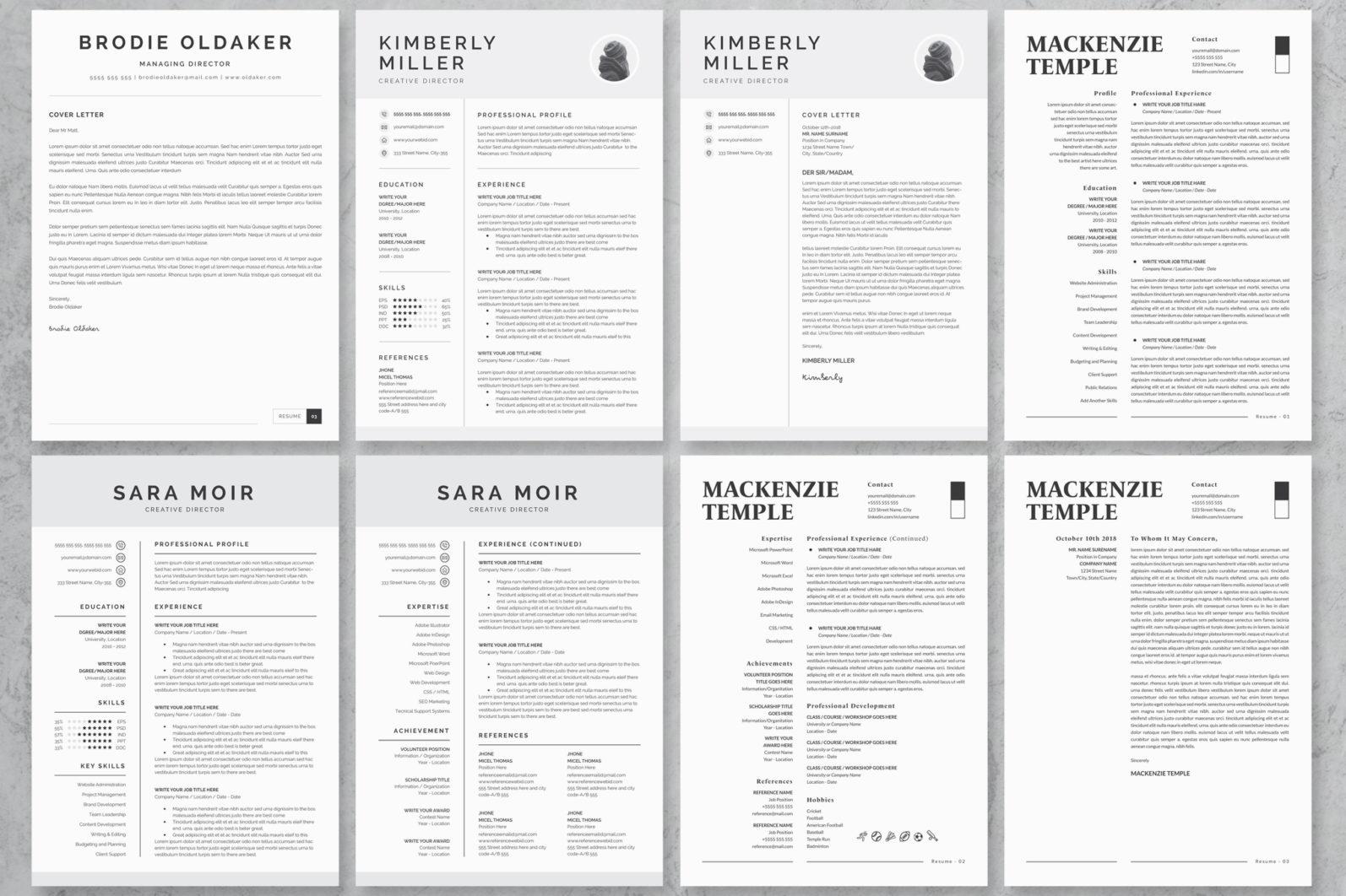 40+ Word Resume/Cv Template Big Bundle - 475 -