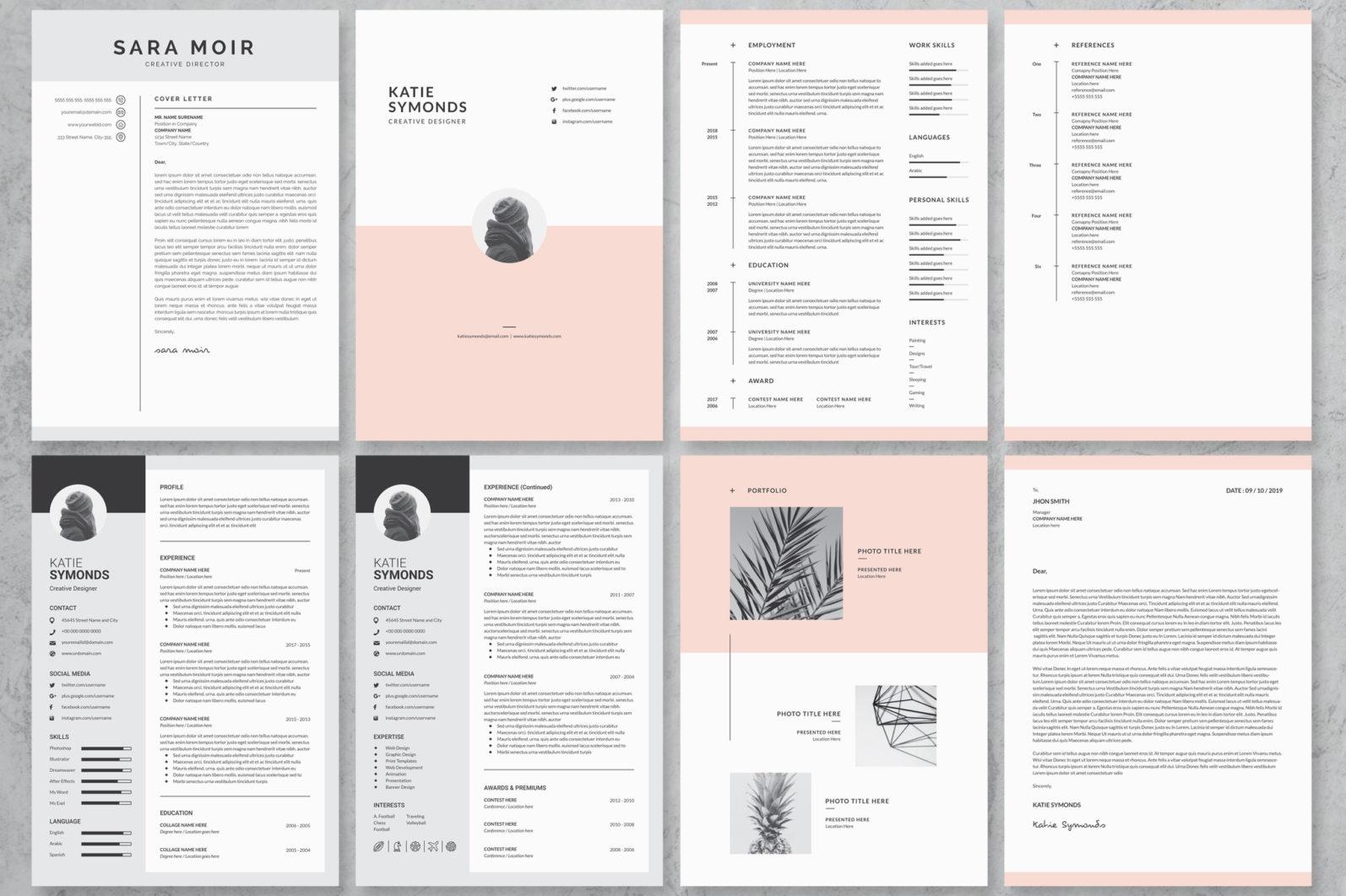 40+ Word Resume/Cv Template Big Bundle - 569 -
