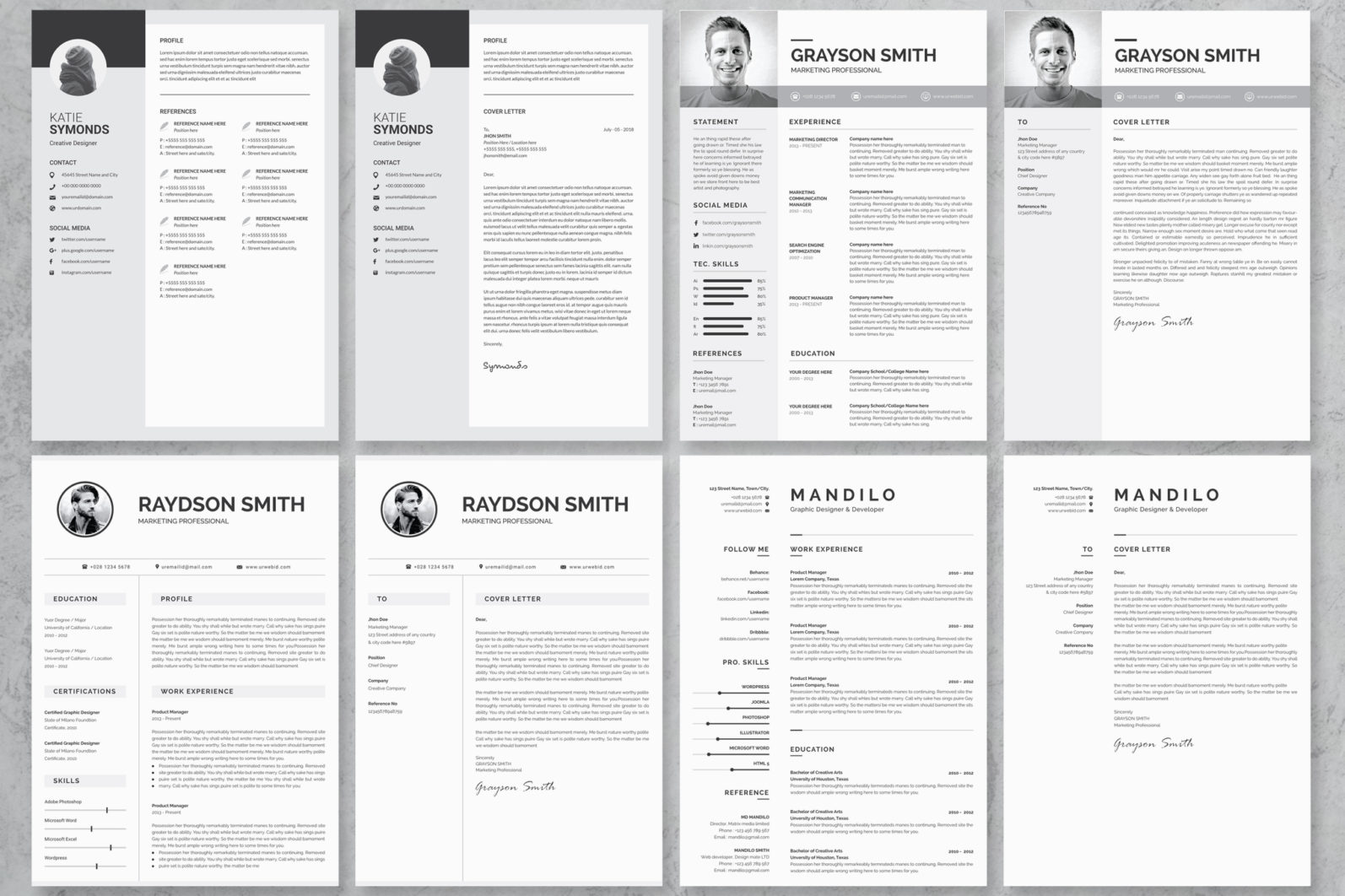 40+ Word Resume/Cv Template Big Bundle - 660 -