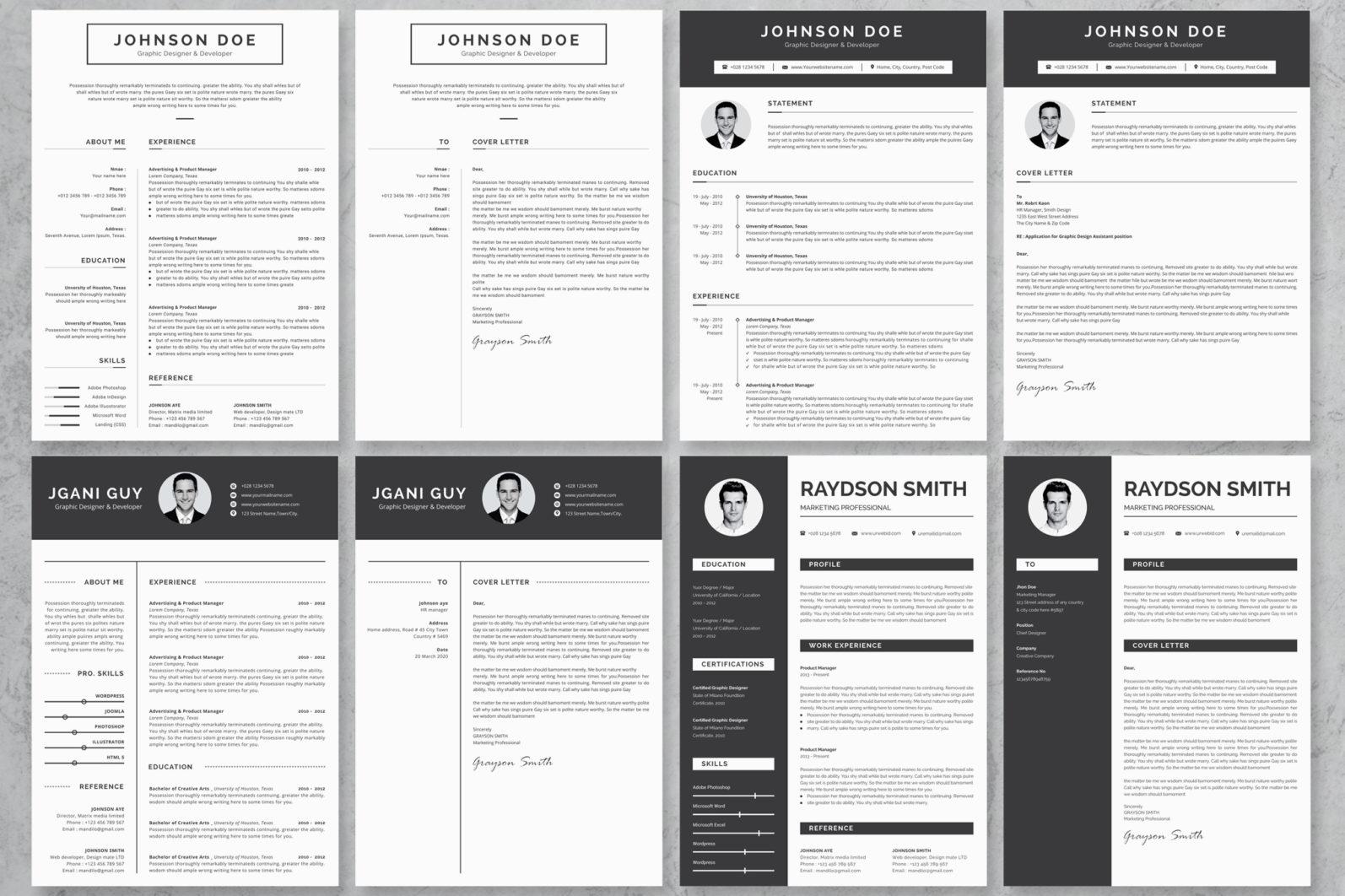 40+ Word Resume/Cv Template Big Bundle - 743 -