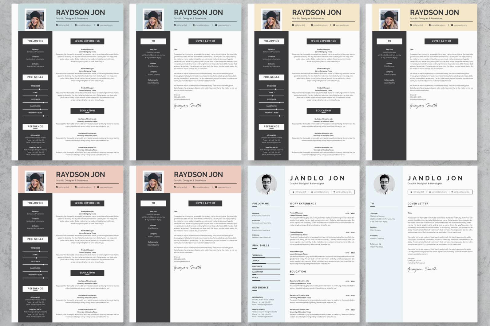 40+ Word Resume/Cv Template Big Bundle - 830 -
