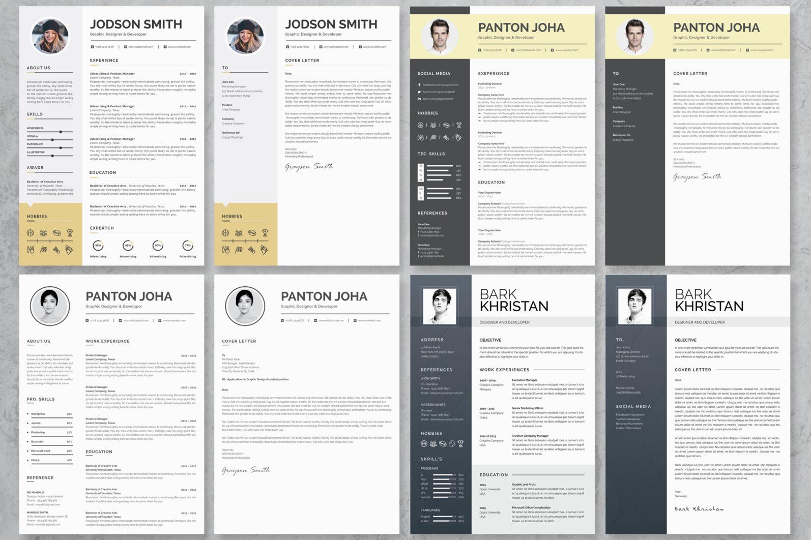 40+ Word Resume/Cv Template Big Bundle - 1018 -