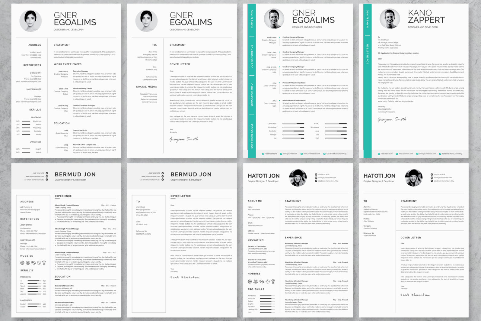 40+ Word Resume/Cv Template Big Bundle - 1119 -