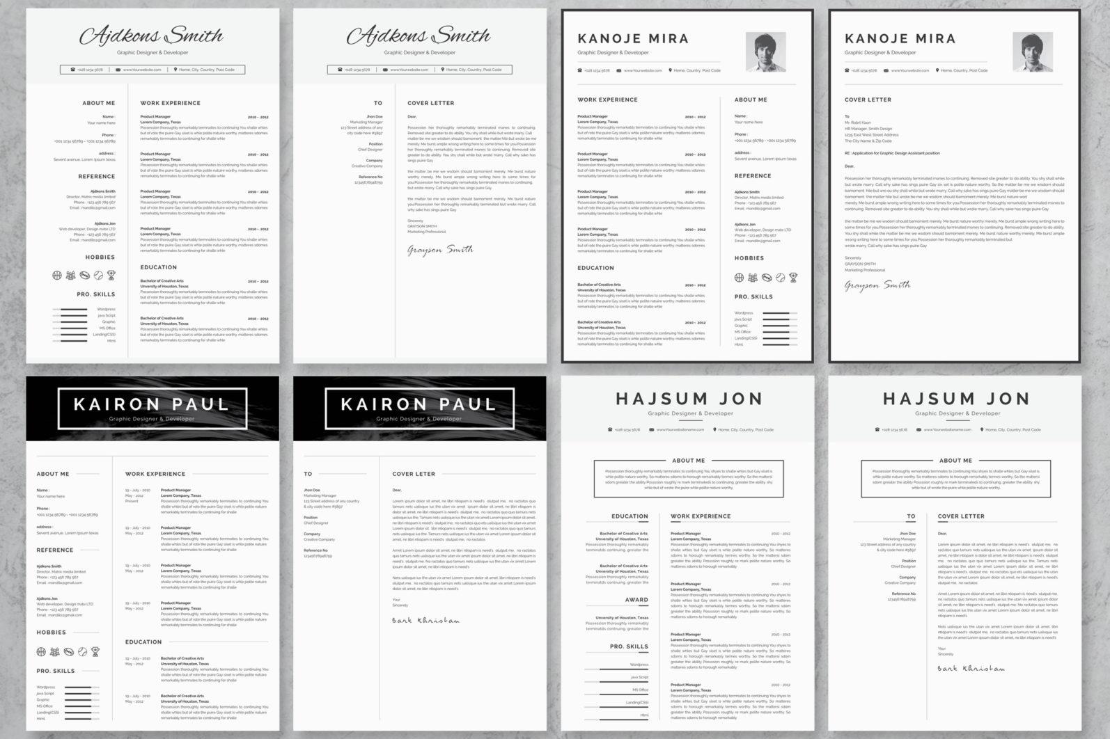 40+ Word Resume/Cv Template Big Bundle - 1313 -